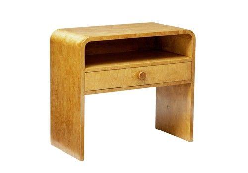 1960's Scandinavian Birch Shaped Bedside Table