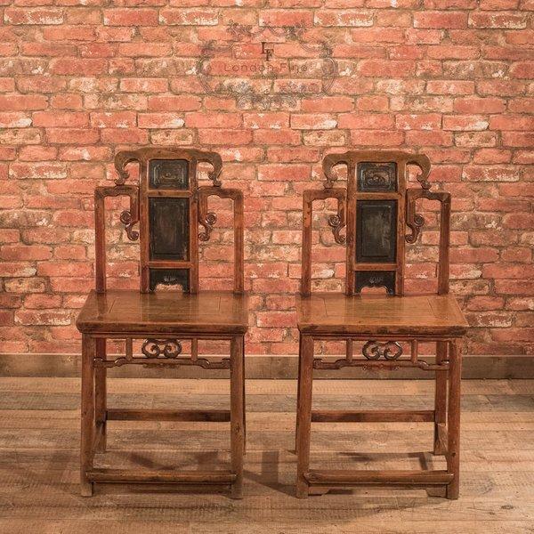 Pair Of Chinese Hall Chairs, C.1900 photo 1