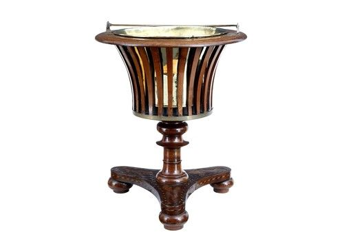 Unusual 19 Th Century Dutch Marquetry Wine Cooler Ice Bucket