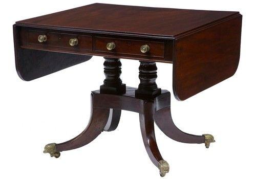 19th Century Mahogany Sofa Table