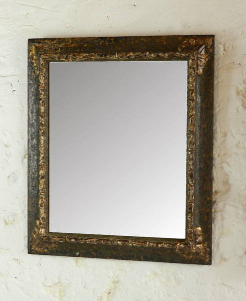 French Distressed Mirror photo 1