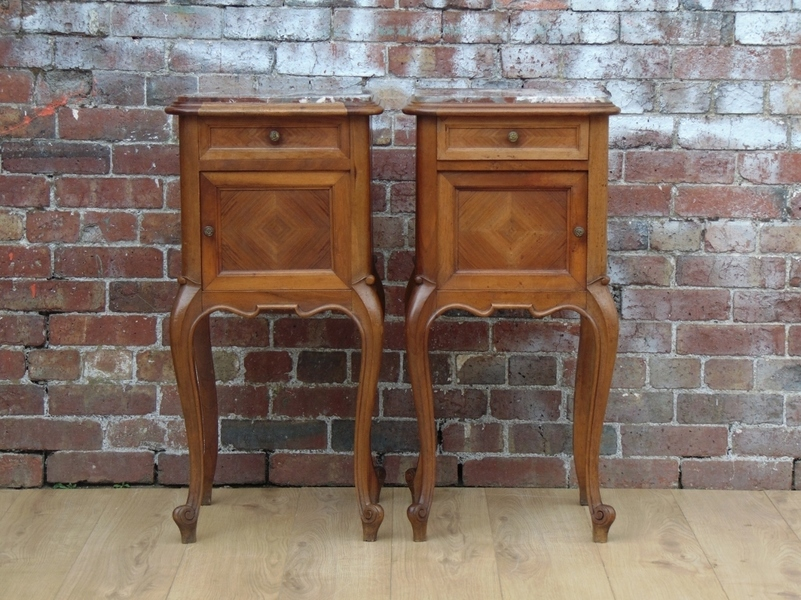 Pair Antique Bedside Cabinets photo 1