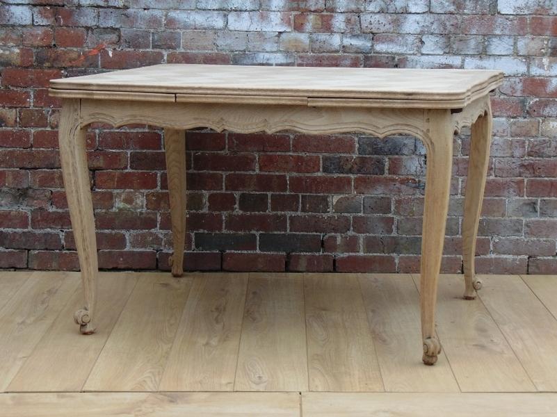 Bleached Oak Drawleaf Table