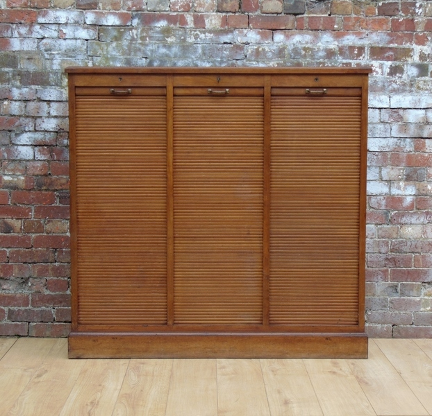 Tambour Front Haberdashery Cabinet