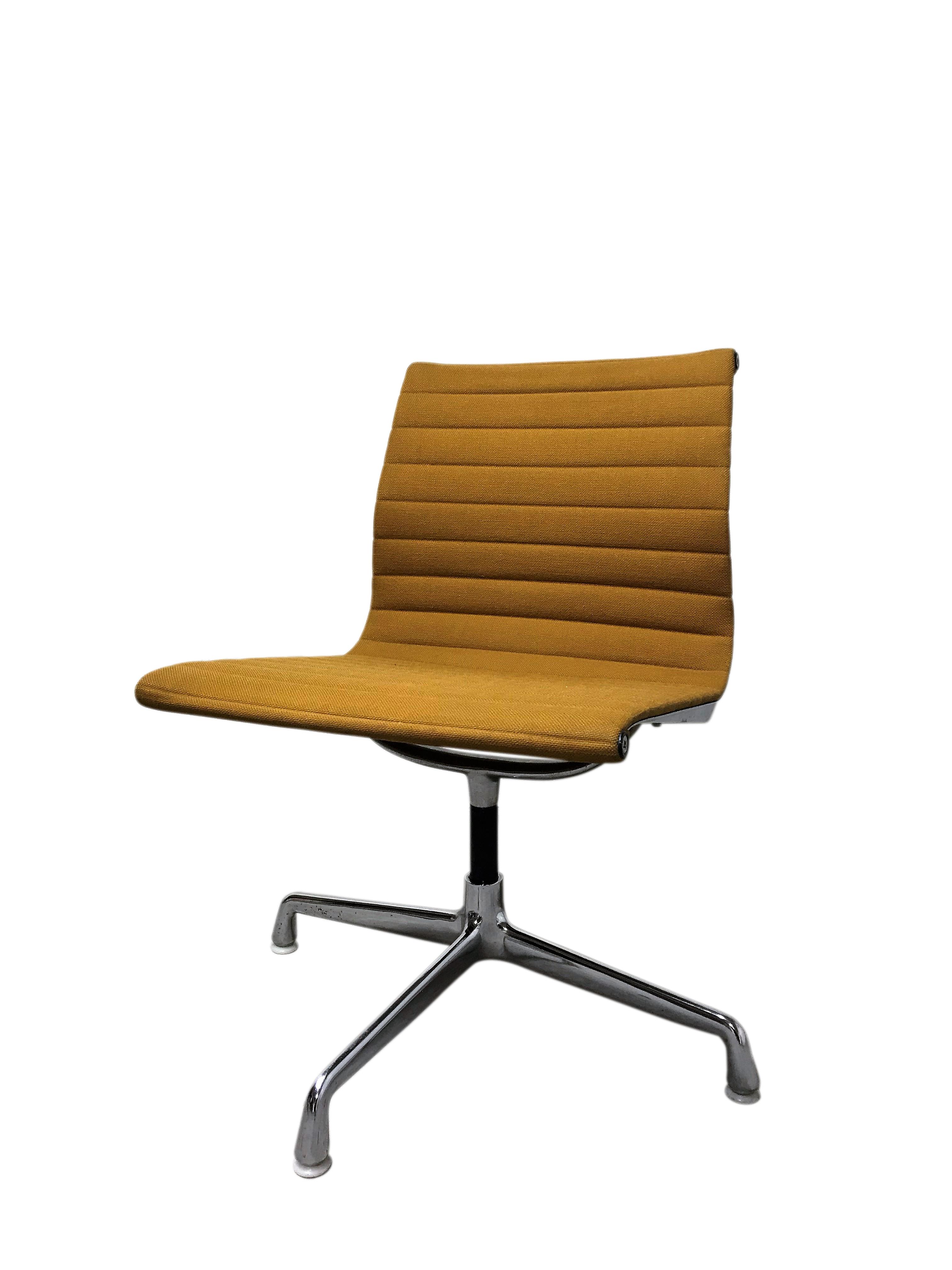 cheap for discount d040d a93e9 Vintage Eames Desk Chair Ea108 For Herman Miller, Yellow, 1970s