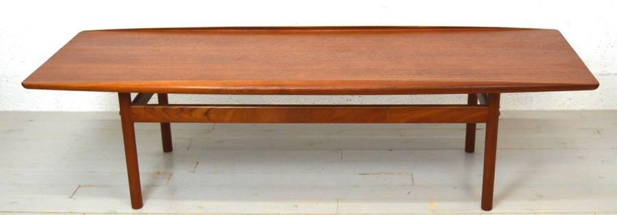 Mid Century Teak Coffee Table By Grete Jalk For Poul Jeppesen