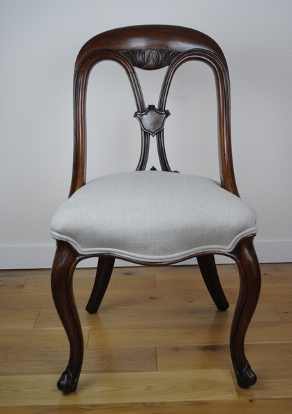 Victorian Mahogany Library Chair