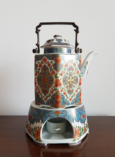 1950s 60s Kaiser Porcelain 'Wuhan' Series Coffee Pot And Warmer Stand, Collectors, West German