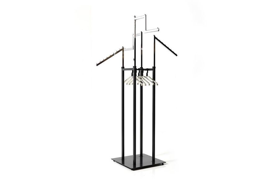 Vintage Coat Rack In Chrome And Metal Vinterior