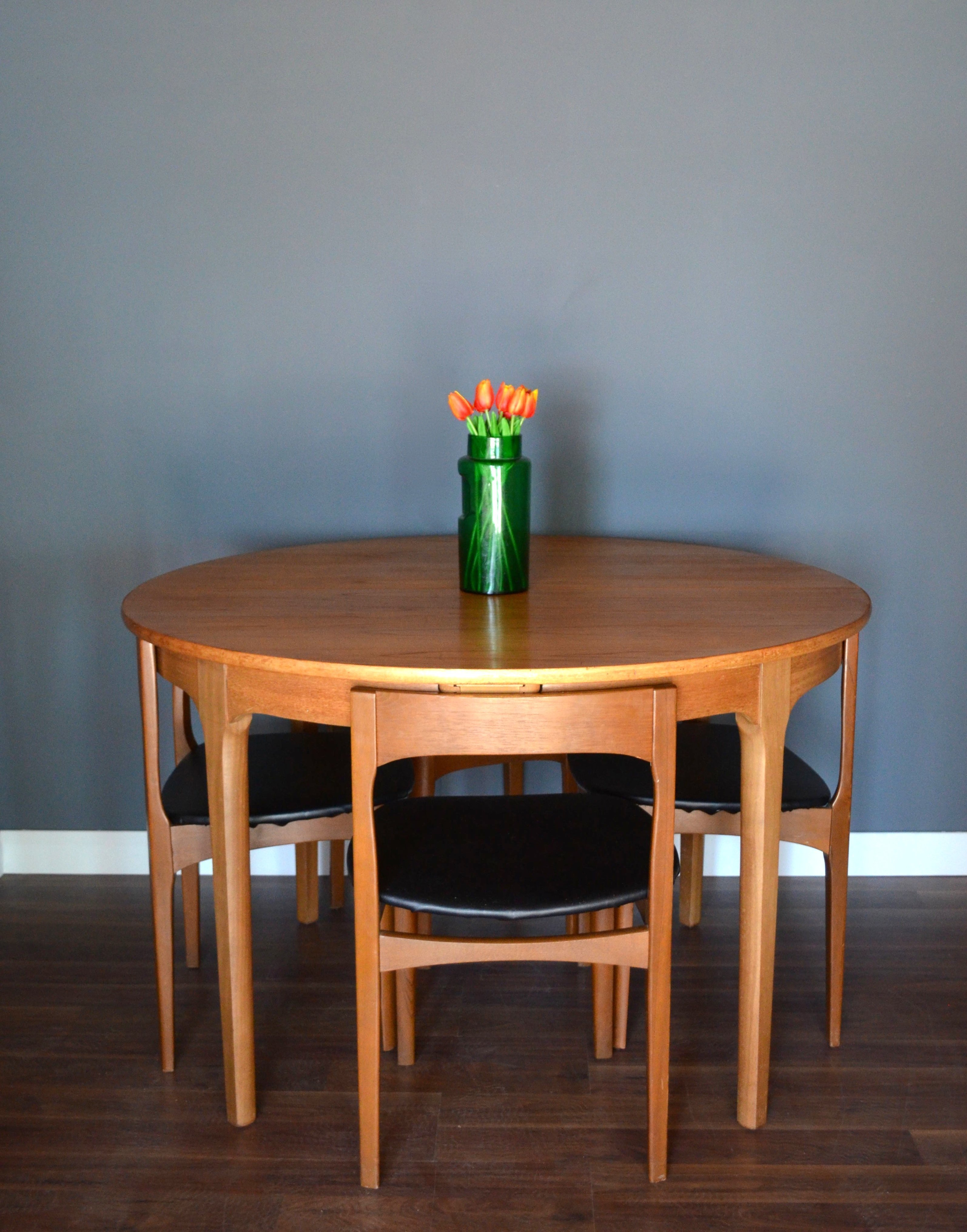 Vintage Nathan Danish Style Extending Round Teak Table And Chairs Delivery Modern Midcentury Retro Nathan Nathan Vinterior
