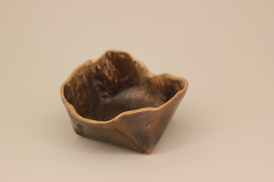 Handmade Cast Bronze Bowl Inspired By Wabi Sabi, Vide Poche