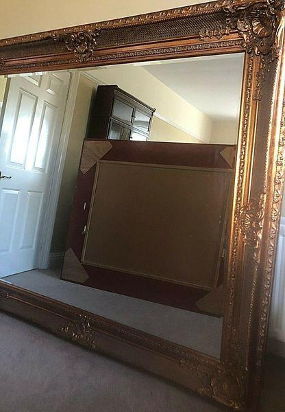 Oversized Ornate Gold Gilt Antique Style Mirror S 2m X 1 7m Floor Standing Wall Vinterior
