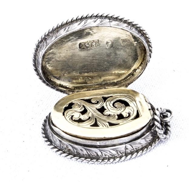 Antique Victorian Silver Vinaigrette Charles Deakin 1862