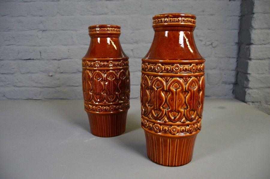 Retro Vintage Mid Century Price & Kensington Coliseum Large Vase Brown