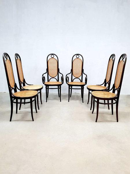 Eetkamerstoelen 6 X.Set Of 6 Vintage Design Eetkamerstoelen Dining Chair Thonet