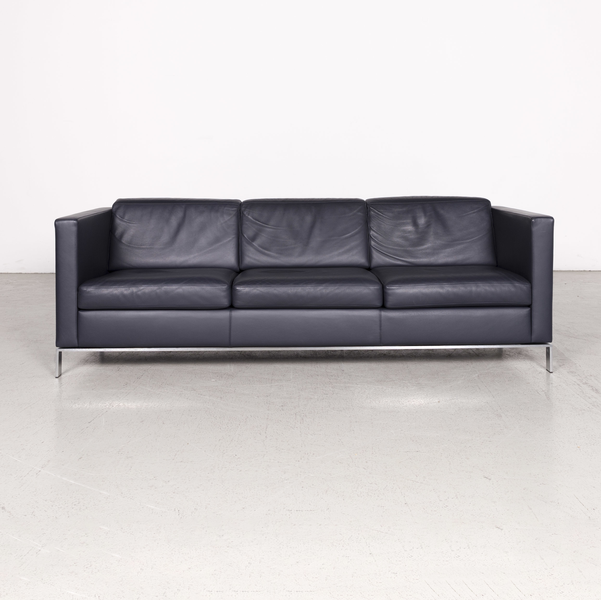 Brilliant Walter Knoll Foster Designer Leather Sofa Blue Real Leather Couch 7822 Bralicious Painted Fabric Chair Ideas Braliciousco