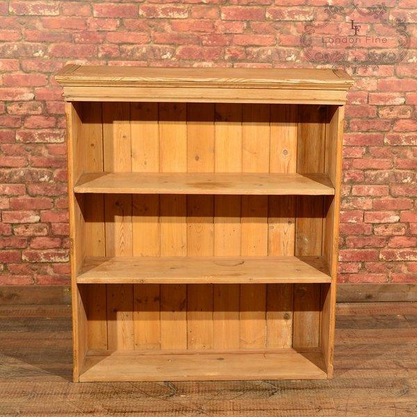 Victorian Pine Bookcase, Dresser Top C.1900