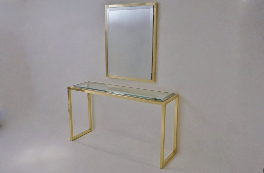 Willy Rizzo Console Table & Mirror