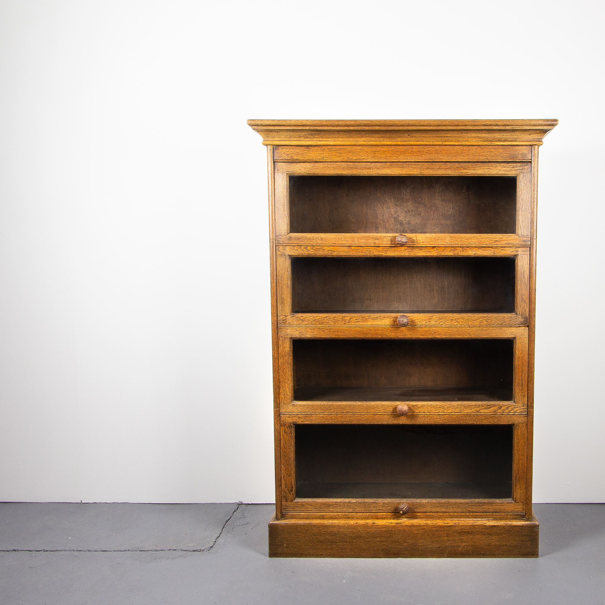 Barrister Bookcase In Solid Oak England Circa 1930s