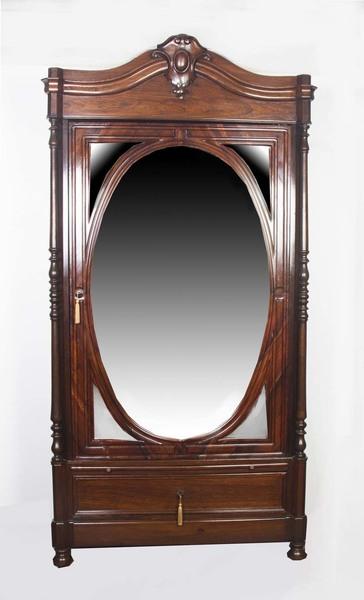 Antique Biedermeier Rosewood Armoire/ Bookcase C.1830