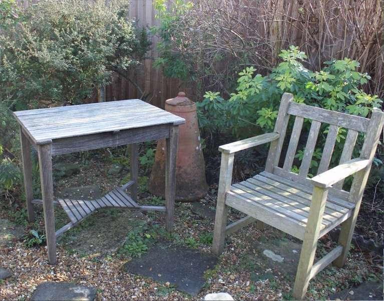 Weathered Teak Garden Table By Castles Ship Breakers.