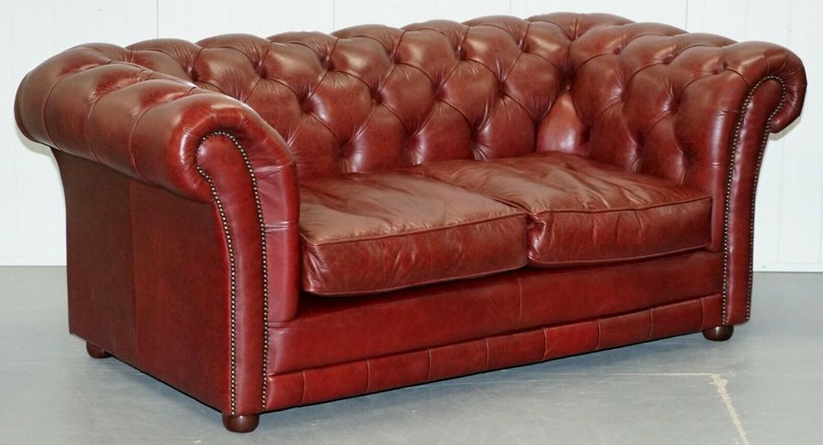 Enjoyable Tetrad England Reddish Brown Leather Chesterfield Sofa Part Of Suite Pabps2019 Chair Design Images Pabps2019Com