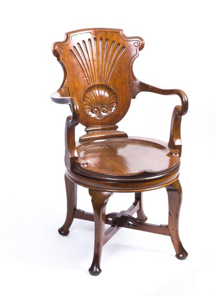 Antique Edwardian Mahogany Inlaid Armchair C.1900 photo 1