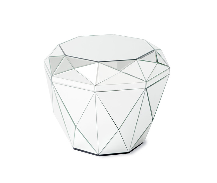 Reflections Silver Diamond Table
