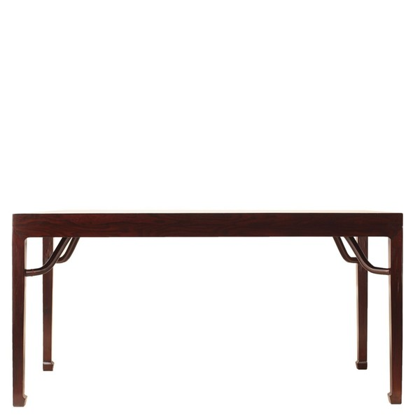 Brown Wood Dining Table Seats 6   8