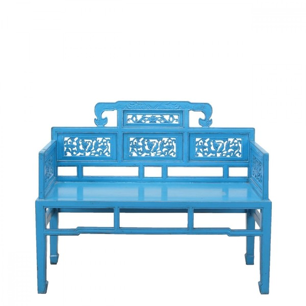 Blue Chinese Double Seat C.1910
