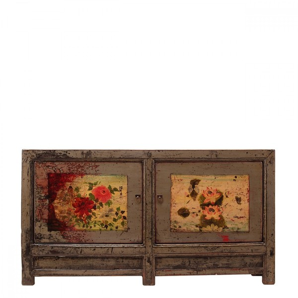 Grey Chinese Decorated Sideboard C.1930