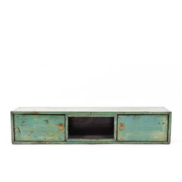 Blue Wall Cabinet C.1920