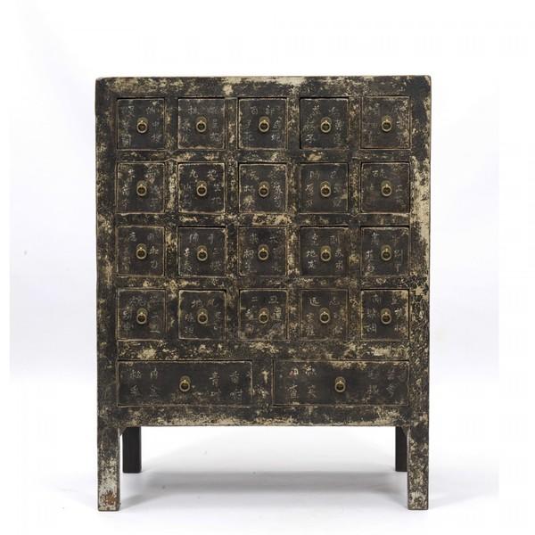 Antique Oriental Medicine Cabinet. C.1900
