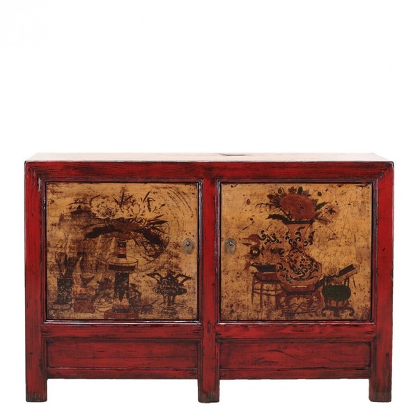 Chinese Sideboard With Hand Painting C.1910