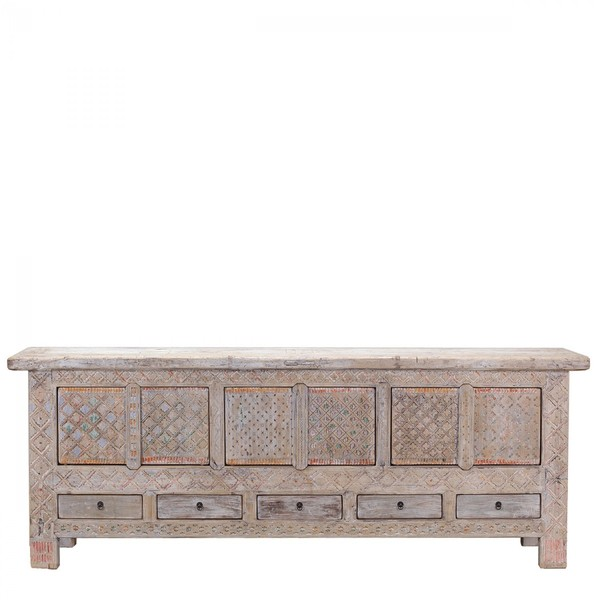 Chinese Antique Sideboard C. 1900 Xinjiang Province