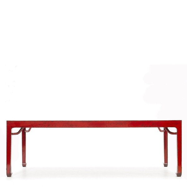 Long Red Dining Table C.1870