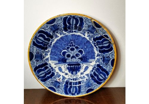 18th Century Dutch Delft Charger Large