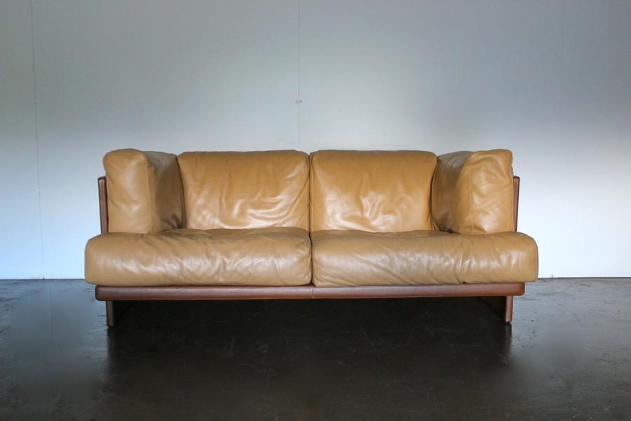 Poltrona No Pelle.Mint Rare Poltrona Frau Polo 2 Seat Sofa Armchair Suite In Dark Brown Tan Pelle Leather