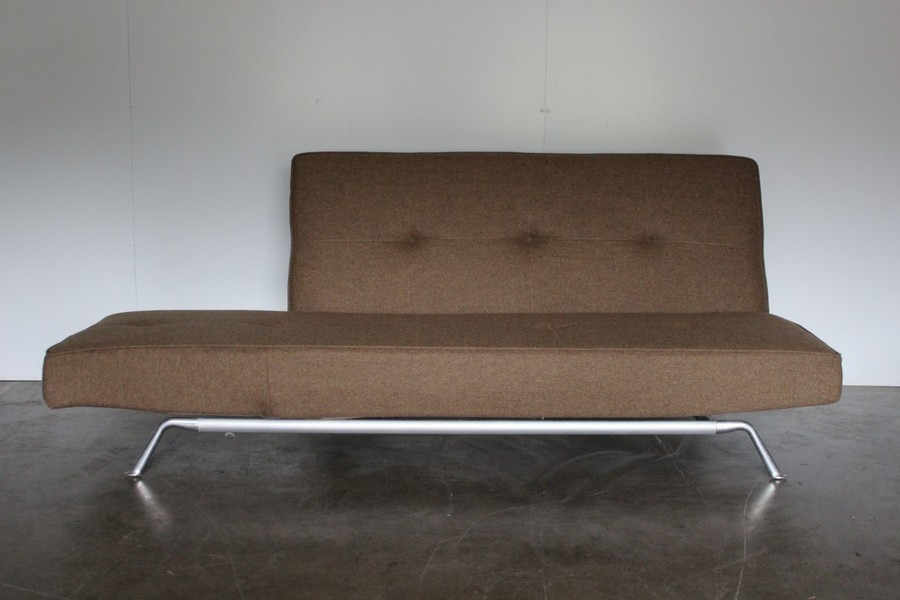 Rare Superb Ligne Roset Smala Large Sofa Bed In Natural Green Brown Wool