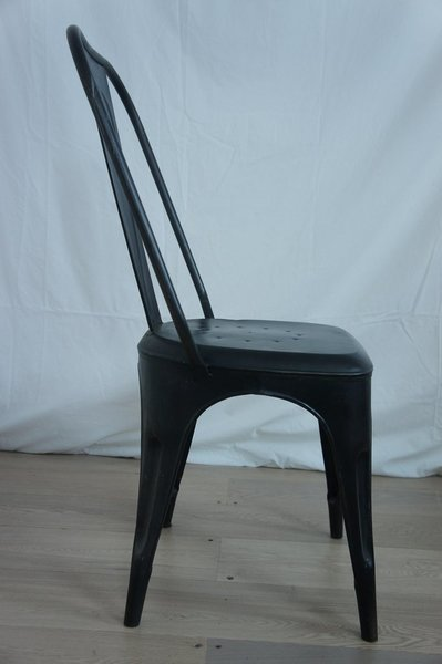 Set Of 4 Black 1930's Style Tolix Metal Chair