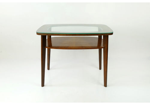 52a7cfe299f4a Mid Century Vintage Coffee Table With Glass Top