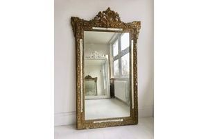 Thumb large antique french gilt mirror 0