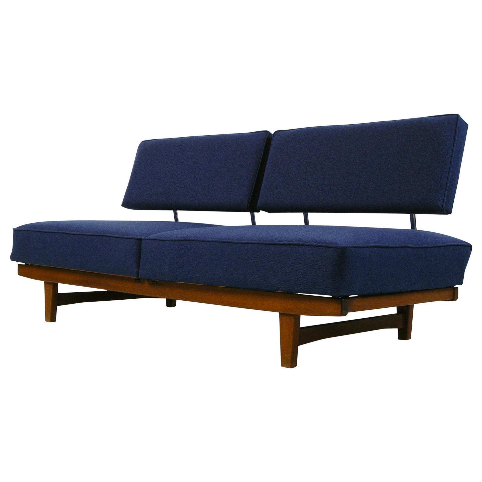Vintage 1950s Mid Century Modern Knoll Stella Convertible Daybed Sofa Couch