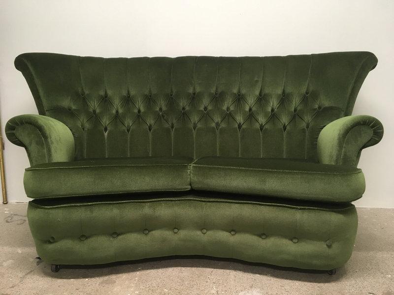 Green Velvet Sofa G Plan Vintage