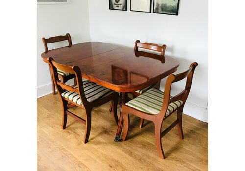 dd3ba259c611a Abbeycraft Reproduction Antique Georgian Yew Dining Table With Chairs