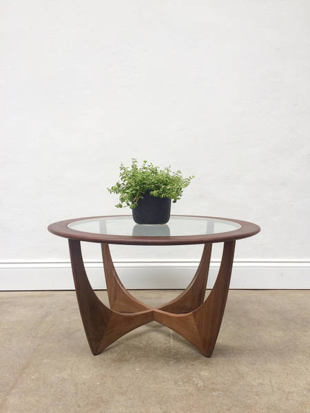25c1e27a1b30 Vintage G Plan Astro Round Coffee Teak Table. Retro Danish Mid Century. 8    9