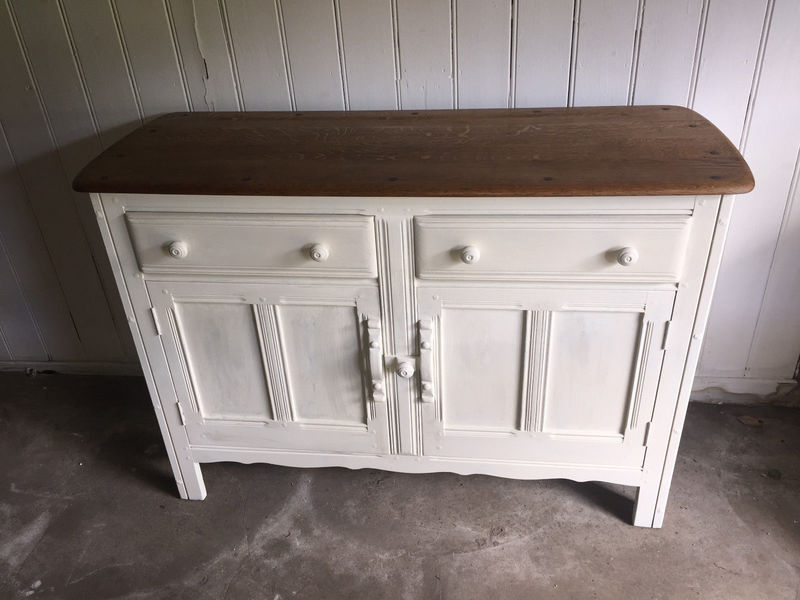 Vintage Ercol Sideboard Shabby Chic Painted In Annie Sloans S