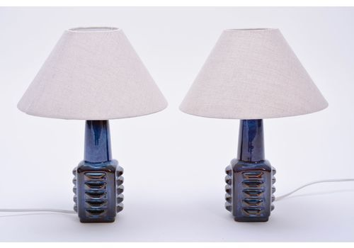 8fb463db967c Small Blue Danish Table Lamps From Soholm