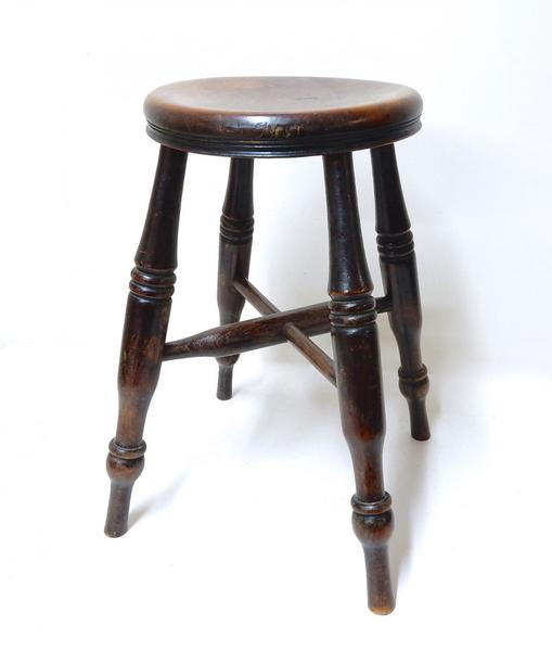 Low Antique Windsor Stool photo 1