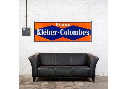 Large Kléber Colombes Tyres Enamel Sign